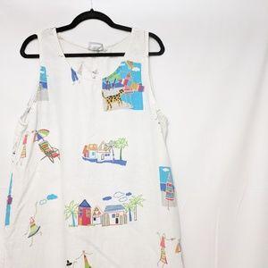 Hot Cotton by Marc Ware Beachey Linen Maxi Dress